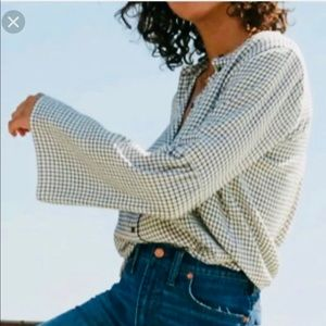 Madewell Button down Bell Sleeve Top